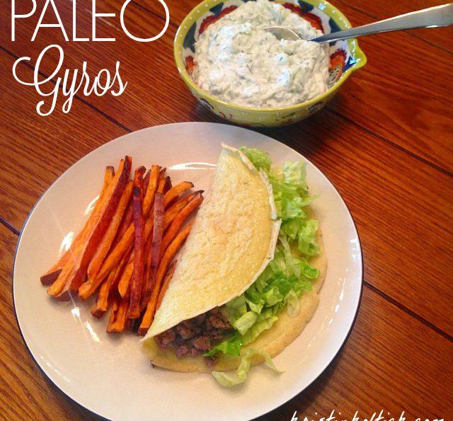 Paleo Gyros with Tzatziki Sauce (Gluten Free, Grain Free, Dairy, Nut & Soy Free)