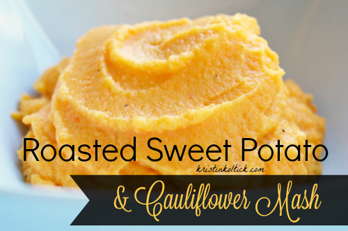 Roasted Sweet Potato & Cauliflower Mash