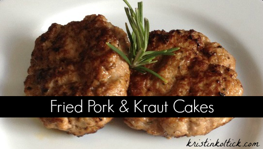 Fried Pork & Kraut Cakes