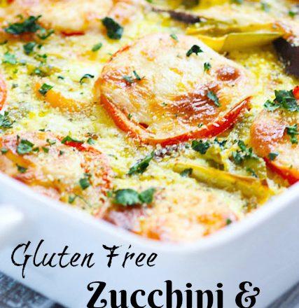 Zucchini & Tomato Bake (Gluten- Free)