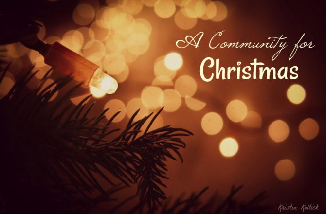 A Community for Christmas: My Possibility for My Son