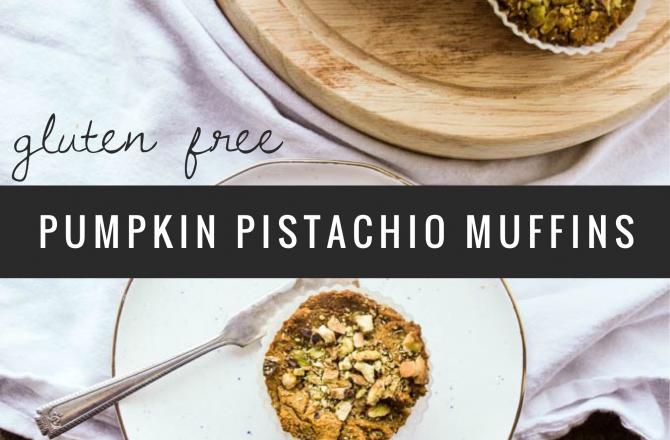 Gluten Free Pumpkin Pistachio Muffins